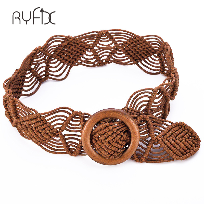 vintage Bohemian style   belts   for women knitted Wide For Dress BL306