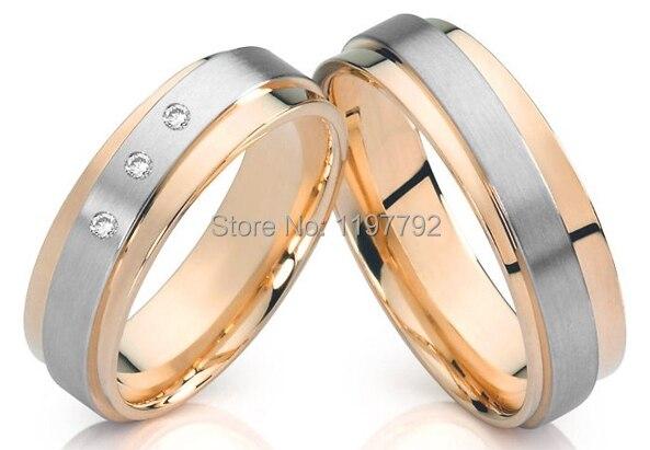 Пользовательские мужского покроя уникальный Titanium обручальные кольца обещание наборы для пар