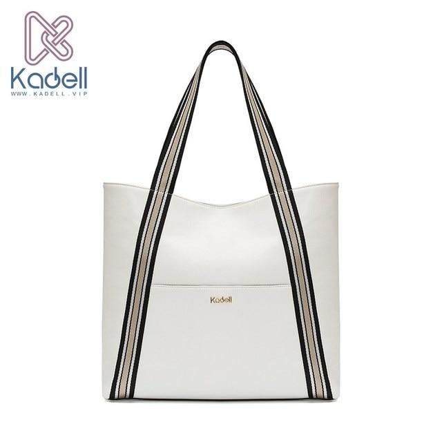 Kadell Для женщин роскошные кожаные Сумки большой Ёмкость сумка широкий плечевой ремень хозяйственная сумка на плечо известный дизайнер бренда Сумки