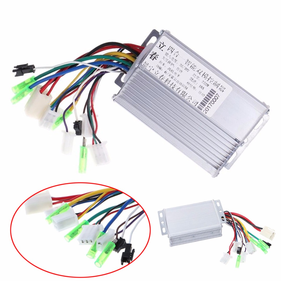 DC 36V/48V 350W DC Motor Controller Electric Bicycle E-bike Scooter Brushless Control with Aluminium Casing