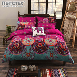 Bedding Sets Sheet Pillowcase Duvet Cover Sets Soft Polyester Queen King Size Traditional Bohemian Home Textile Bedroom 3/4 PCS