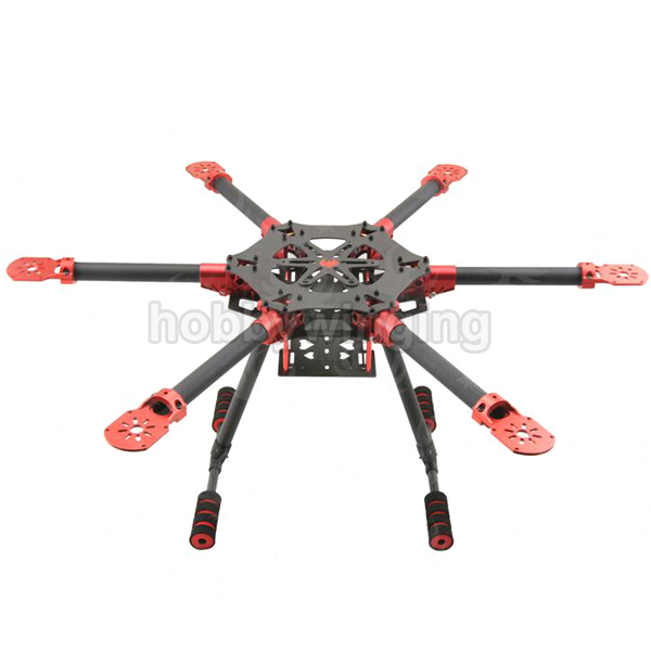 600mm/750mm 6-Axis Carbon Fiber Folding Hexacopter Frame kit with Landing Gear for Aerial Photography atg tt x4 12 reptile 4 axis glass carbon folding frame kit with landing gear black