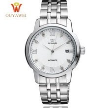 OUYAWEI Brand Self Wind Mechanical Watch Men Shock Resistant Man Wristwatch Fashion Dress Business Relogio Masculino ON SALE цена и фото