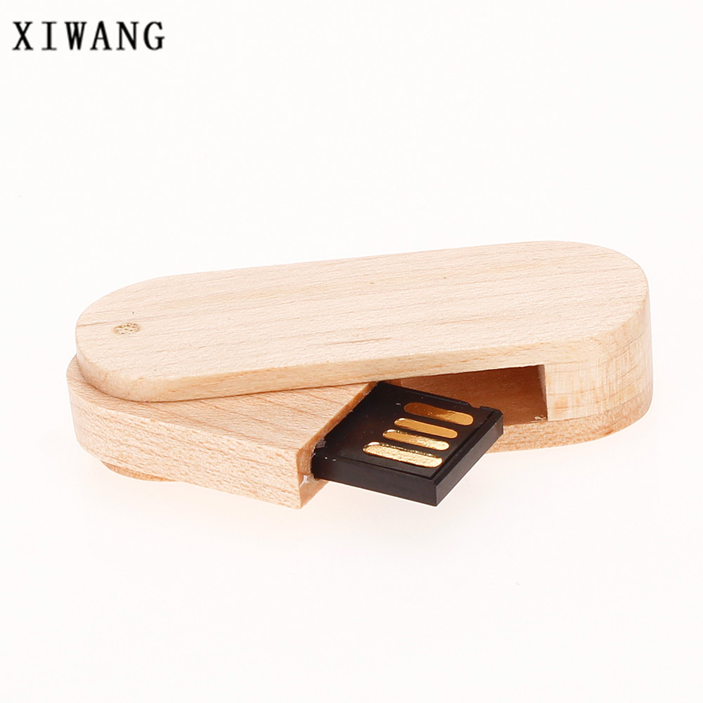pen drive 4GB 8GB 16GB USB flash drive 32GB wooden Pendrive 64GB usb memory stick laser engraved custom LOGO rotary wedding gift in USB Flash Drives from Computer Office