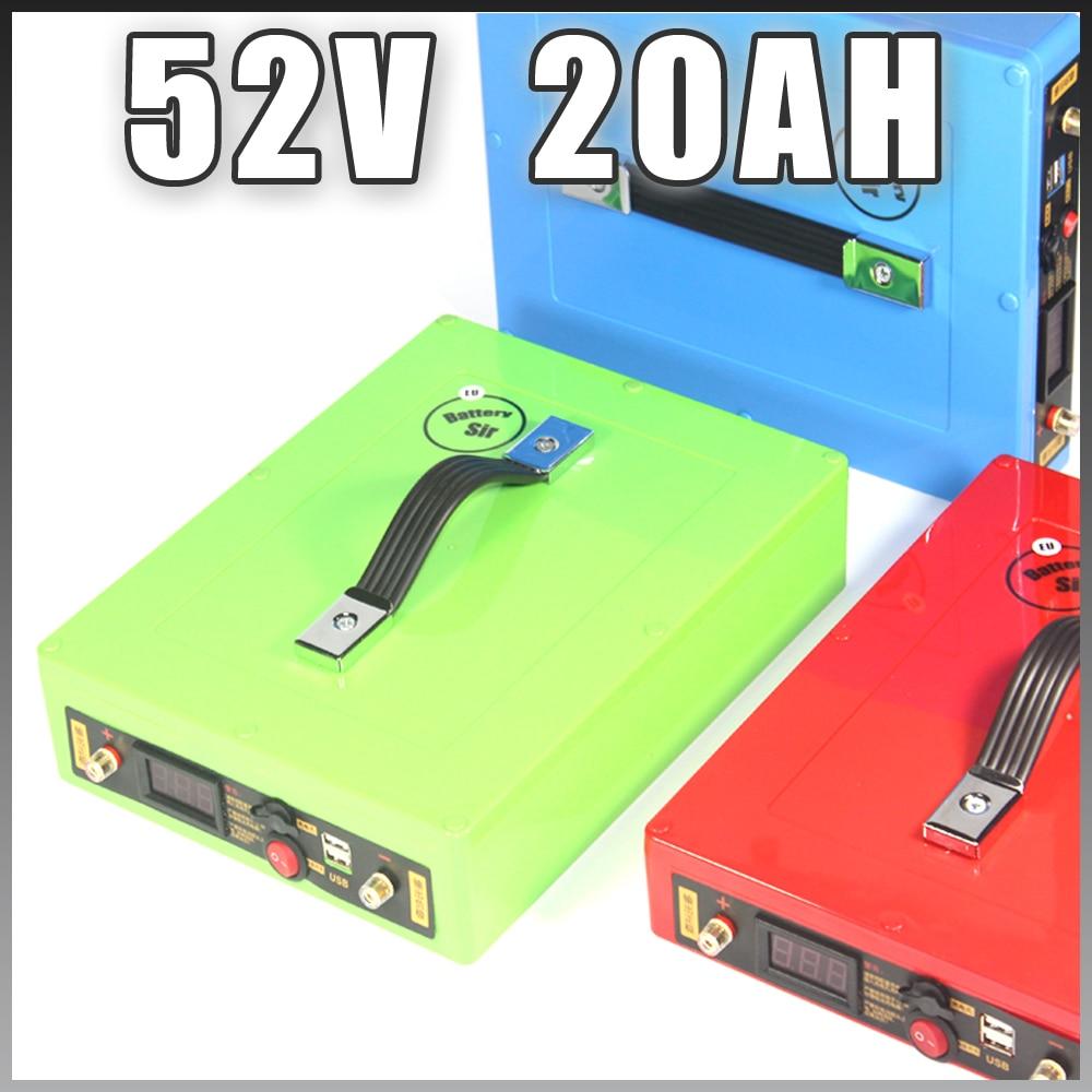 51.8 V 20AH Ebike batterie 52 V lithium ion batterie avec 5 V USB boîtier étanche 14 S 18650 batterie