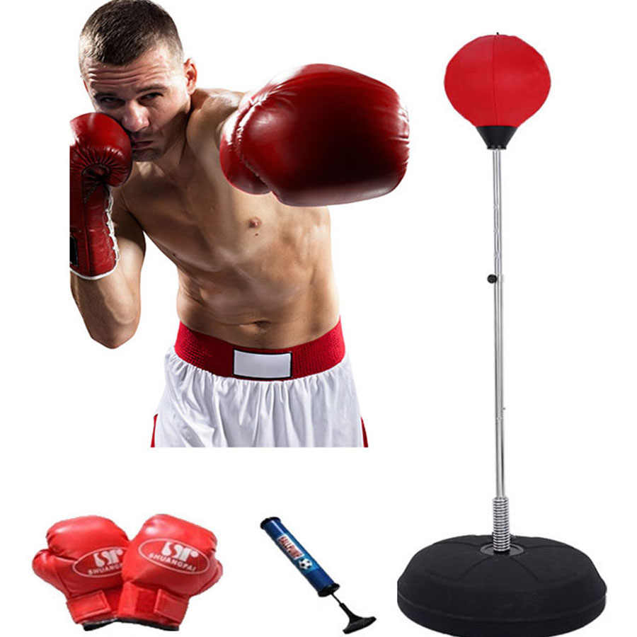 Adjustable Height Easy Setup /&Stress Relief Adult /& Kid Solid Speed Punching Bag Free Standing Color : Red YUN HAI Heavy Training Boxing Ball With Reflex Bar