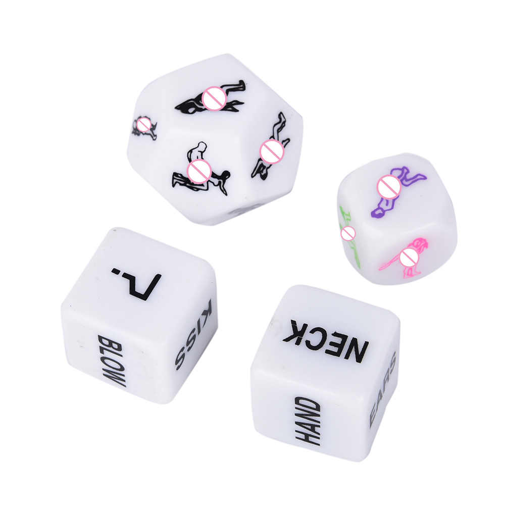 1Pc Adulto Erotic Dice Game Toy Sex Party Fun Adulto Casal Glow In The Dark Luminous Adereços Partido do Fulgor favor Presentes