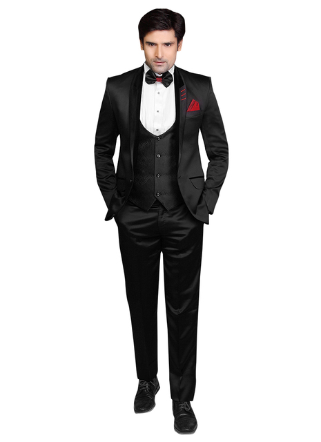 Aliexpress.com : Buy 2016 Classic Black Viscose Lapel Style Men ...