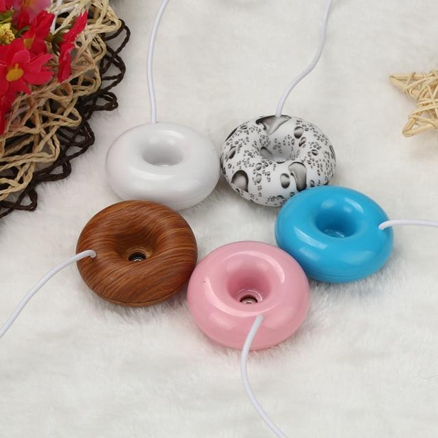 Feliz Casa Flutua 5 Pcs Mini Donuts USB Umidificador Purificador de Ar Aroma Difusor de Vapor