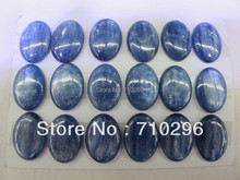 Kyanite semi precious gem stone Cabochons 18x25mm oval Cab Fit fashion jewelry finger ring,6 pcs/lot