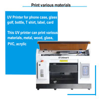 Flat inkjet UV Printer A3 for Lighter printing