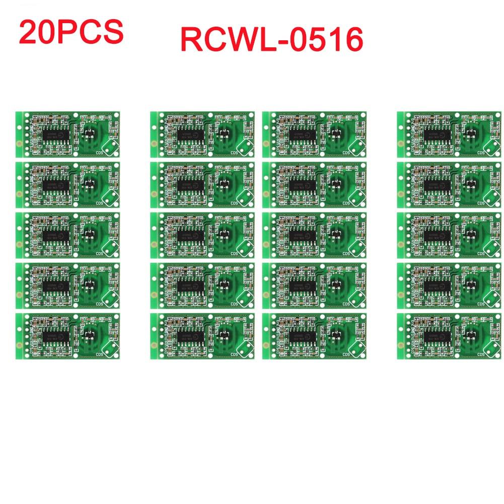 20pcs/lot RCWL-0516 Microwave Doppler Radar Sensor Switch Module Human Induction Board Detector For Arduino RCmall