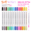 14Pcs Set 28Colors Dual Tips Gradient Color Marker Pen Premium Painting Watercolor Pen For Coloring Book