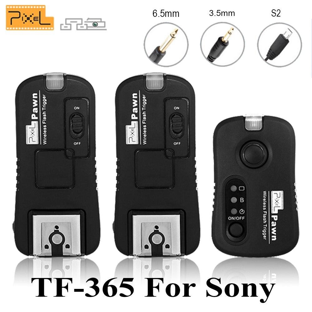 Pixel TF-365 Sans Fil Déclencheur Flash (1X Trans mi tter + 2x Émetteur-Récepteur) pour SONY mi Hotshoe Interface A58 NEX-3NL A3000 A6000 HX300