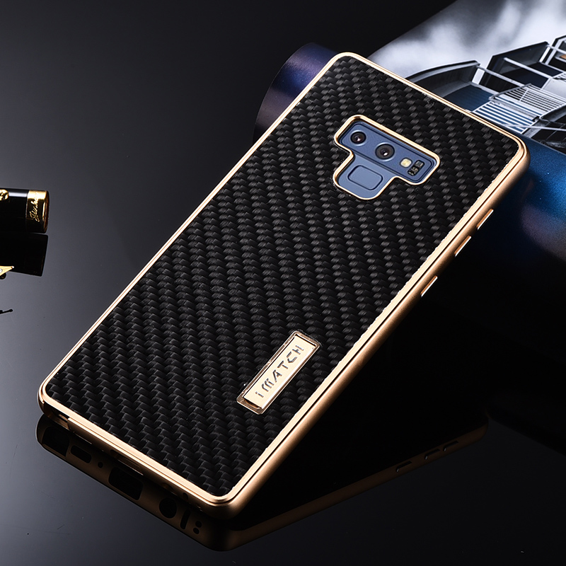 Luxury Aluminum Metal + Carbon Fiber Phone Case For Samsung Galaxy Note 9 Hard Full Protection Back Cover For Samsung Note9 CaseLuxury Aluminum Metal + Carbon Fiber Phone Case For Samsung Galaxy Note 9 Hard Full Protection Back Cover For Samsung Note9 Case