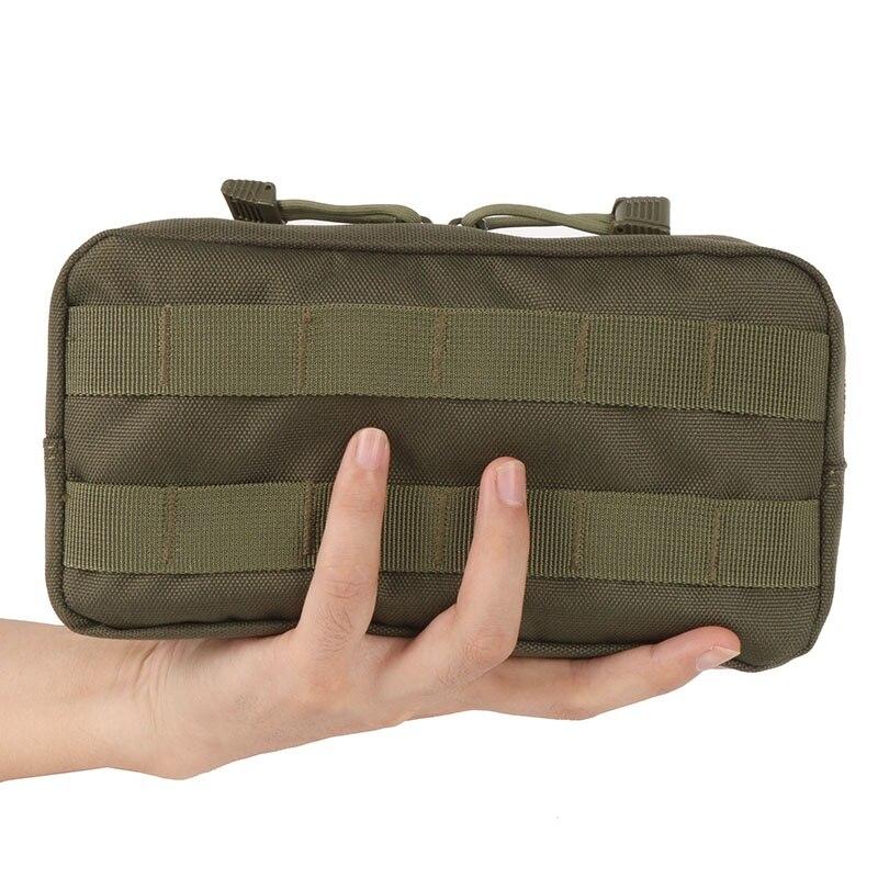 Al aire libre 600D Nylon engranaje de viaje Molle bolsa militar chaleco táctico varios Cámara revista bolsa de almacenamiento