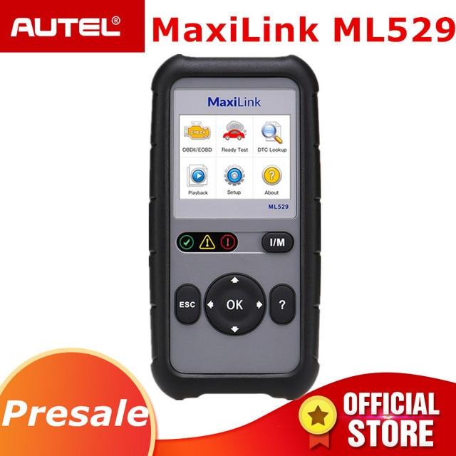 Big Sale Autel MaxiLink ML529 OBD2 Scanner Car Auto Diagnostic Tool OBD 2  EOBD Code Reader Full OBDII Diagnosis Functions PK Al519 AL529