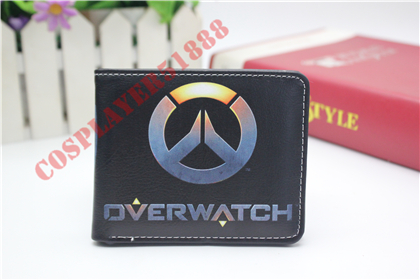 2017 New Overwatch Wallets Cartoon Anime Leather Purse Dollar Price Card Money Bag Gift carteira Men Short Wallet 2 style new anime wallets walking dead character leather purse gift for teenager students dollar card money bags casual short wallet