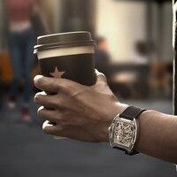 # Наружные инструменты Мужские автоматические механический аналог часы полые из нержавеющей стали деловые повседневные наручные часы в по