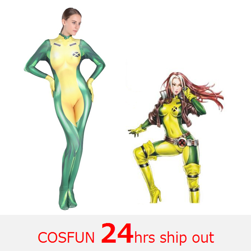 Women's Anna Marie Deadpool costumes The Avengers Annual Deadpool cosplay Costume Bodysuits Jumpsuits Halloween Costumes