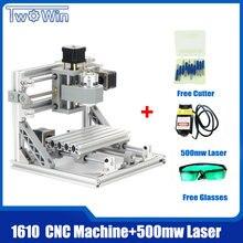 CNC Routeur 1610 + 500 mw Laser GRBL Contrôle Mini Laser Machine De Gravure, Zone de travail 16*10*4.5 cm PCB Fraisage Bois Routeur