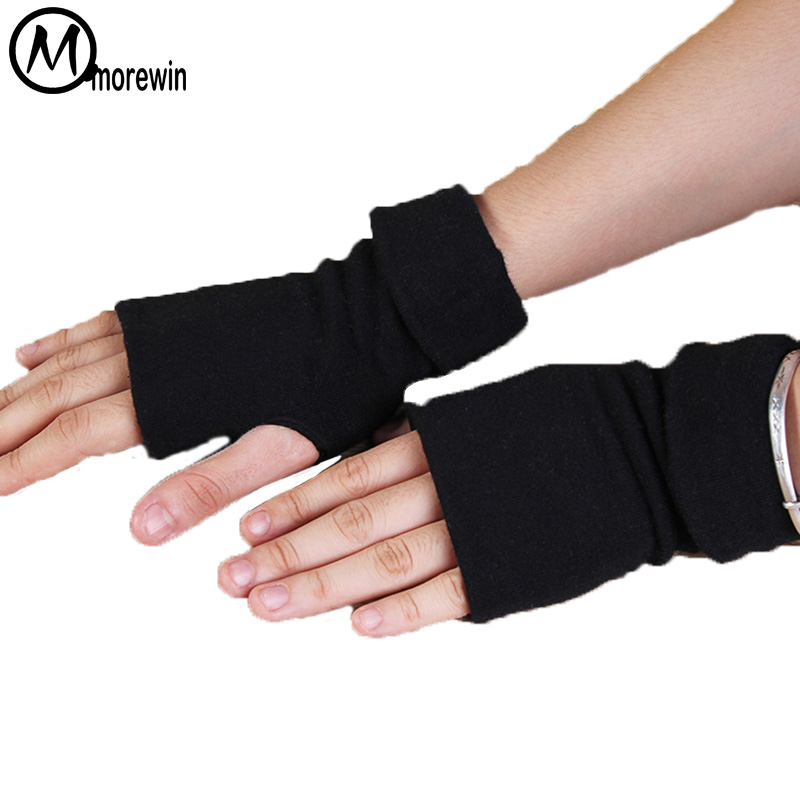 Morewin Fashion New Men Cotton Summer Fingerless Gloves Mens Driving Gloves Thin Fingerless Mittens Male Black Short Mittens