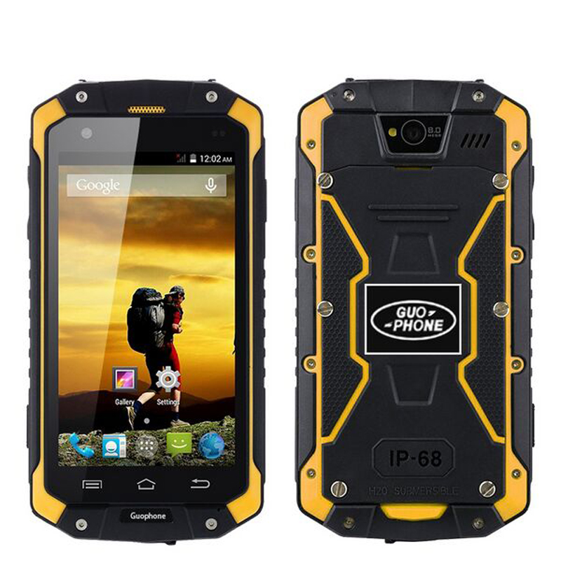 D'origine GuoPhone V9 Téléphone V9 PRO Avec IP68 MTK6580 Android 5.1 3g GPS AGPS 4.5 pouce Écran Antichoc Étanche téléphone intelligent