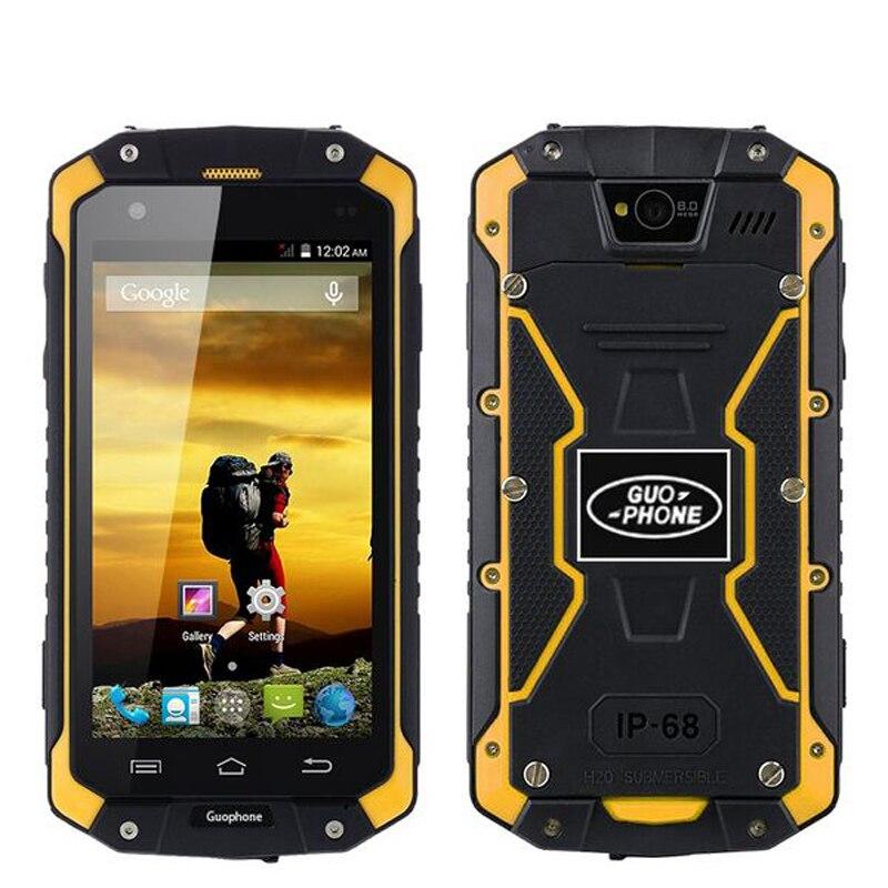 Téléphone d'origine GuoPhone V9 V9 PRO avec IP68 MTK6580 Android 5.1 3G GPS AGPS 4.5 pouces écran antichoc étanche téléphone intelligent