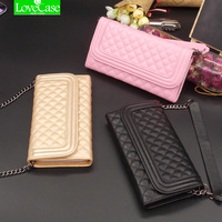 6S 7Plus Women Wallet Leather Case Cover For Iphone 6 6S 7 Plus Flip Classic Rhombic