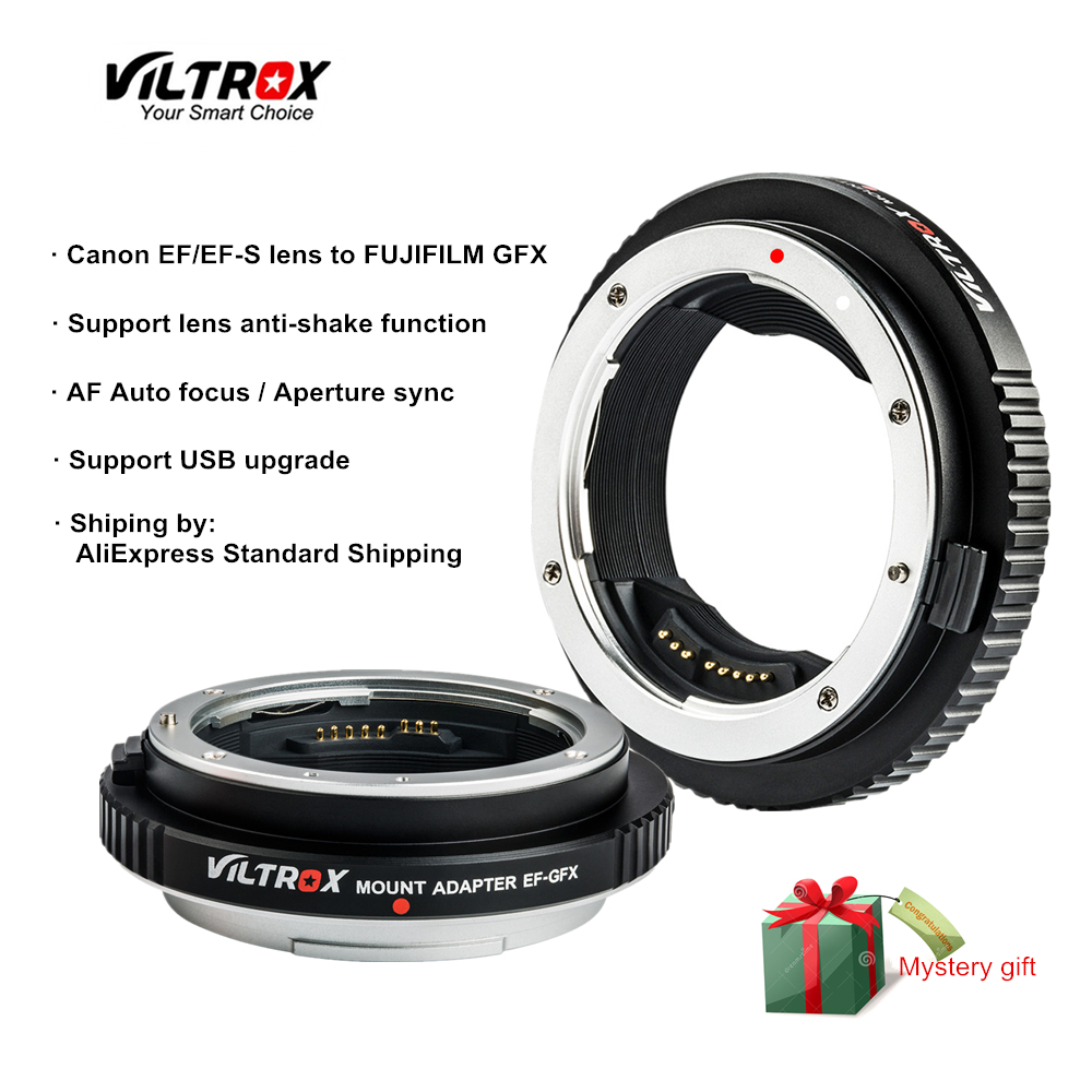 Viltrox EF-GFX Metal Auto Focus Camera Lens Adapter Medium format for Canon EF/EF-S lens to FUJIFILM GFX 50S GFX 50R camera lens