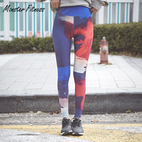 Fitness Women Graffiti Printing Sport Leggings Yoga Pants Running Tights Workout Trousers Sportswear Push Up Gym
