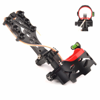 1pc Black 5 Pins Bow Sight with Sight Light and Green Bubble Level for Compound Bow Archery Shooting Hunting Accessory