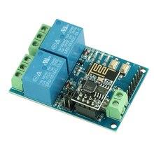 โมดูลรีเลย์ 5 V WIFI ESP8266 IOT APP รีโมทคอนโทรล 2 ช่องสำหรับสมาร์ทโทรศัพท์บ้านอัตโนมัติ Board dual WiFi โมดูล