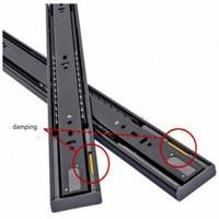 Gaveta slide com gaveta de amortecimento ferroviário teclado bandeja slides macio fechar gaveta slides schufdeur trilhos frete grátis|Escorregador| |  -