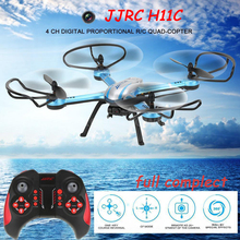 JJRC H11C With Camera 2.0MP HD 2.4G 4CH 6Axis One Key Return RC Quadcopter RTF Remote Control Helicopter Drone 3D Mode