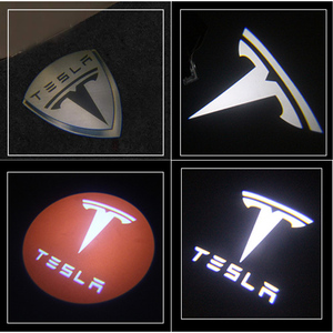 Image 5 - HOT sale 2pcs/lot Car LED 3D LOGO shadow light welcome light Decorative signal Lamp For Tesla MODEL S MODEL X MODEL 3 MODEL Y