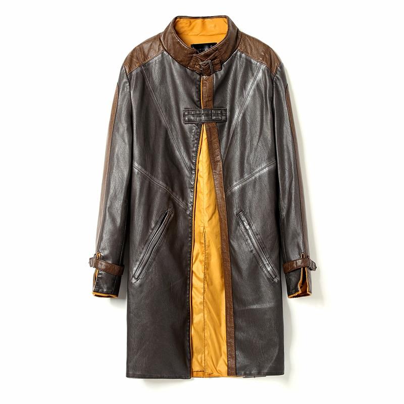 [Сток] Высокое качество! Куртка из искусственной кожи для игры в Watch Dogs Aiden Pearce, ветровка, костюмы для косплея на Хэллоуин для женщин/мужчин S-3XL - Цвет: Коричневый