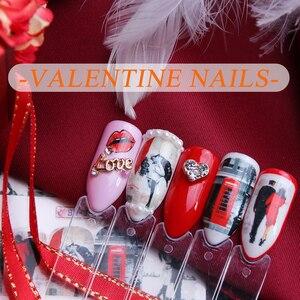 Image 5 - 12 diseños de calcomanías para manicura, pegatinas adhesivas de pareja/Flor de Arce, búho, joyería deslizante, arte de uñas, calcomanías de transferencia de agua para envolturas de uñas