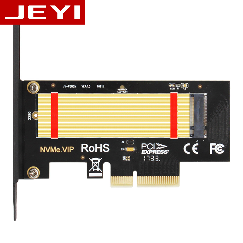 все цены на JEYI SK4 Pro M.2 NVMe SSD NGFF TO PCIE X4 adapter M Key interface card Suppor PCI Express 3.0 x4 2230-2280 Size m.2 FULL SPEED
