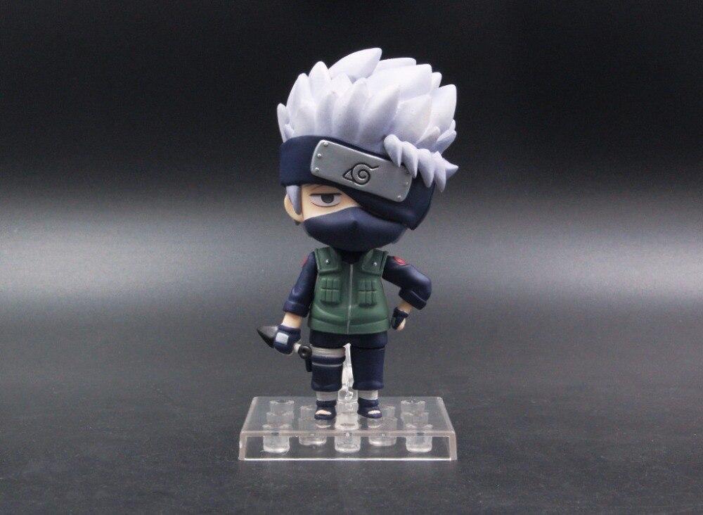 10cm Naruto Shippuden Hatake Kakashi Nendoroid 724# Anime Action Figure PVC toys Collection figures for friends gifts 2