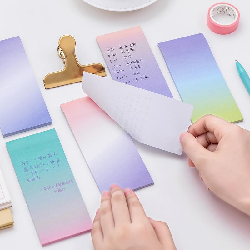 Kreativní barva Dlouhá sekce Gradient N Times Sticky Notes Can Tear - Bloky a záznamní knihy - Fotografie 3