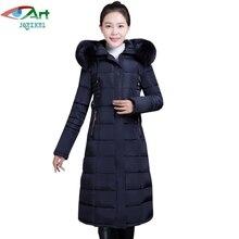 JQNZHNL Mid-aged Women Parkas 2017 New Medium Long Thicken Down Cotton Coats Outerwear Fur Hooded Cotton-padded Coat Parkas E658