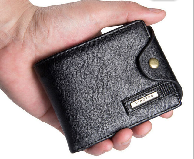 Europe and the leisure men's wallet leather paragraphs short section horizontal vertical wallet multi-functional wallet