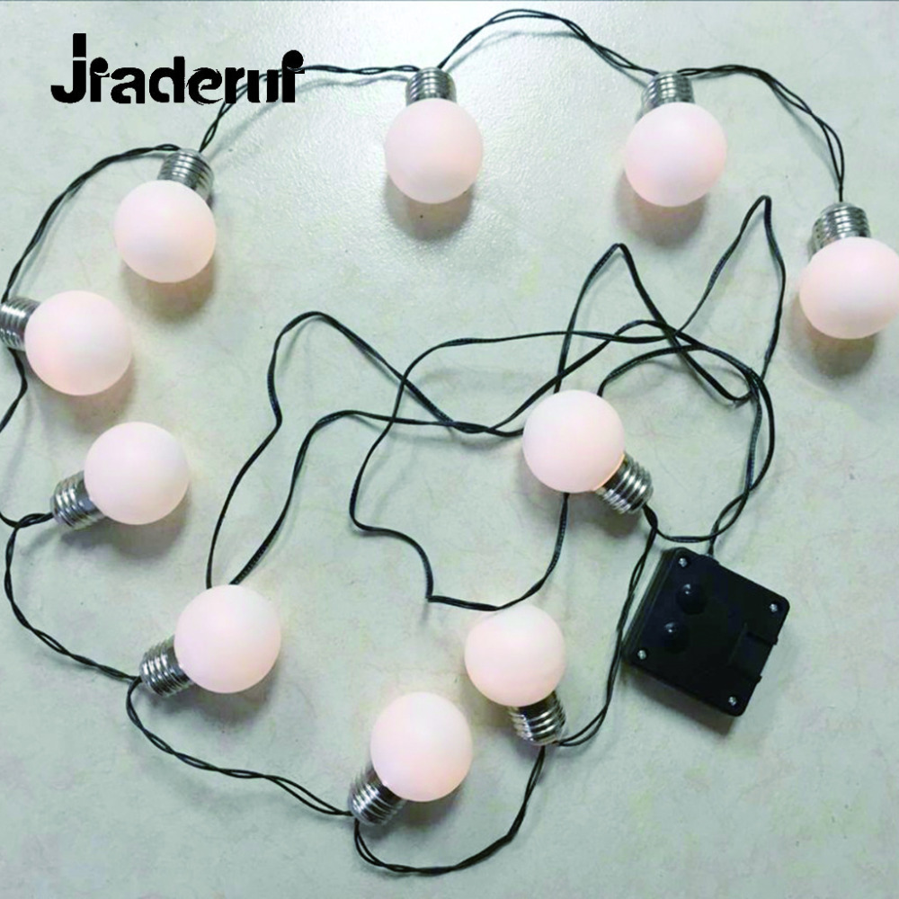 Jiaderui Creative Solar Holiday String Light Outdoor Waterproof 4m 10LED 6m 20LED 8m 30LED G50 Decorate Fence Patio Yard Garden
