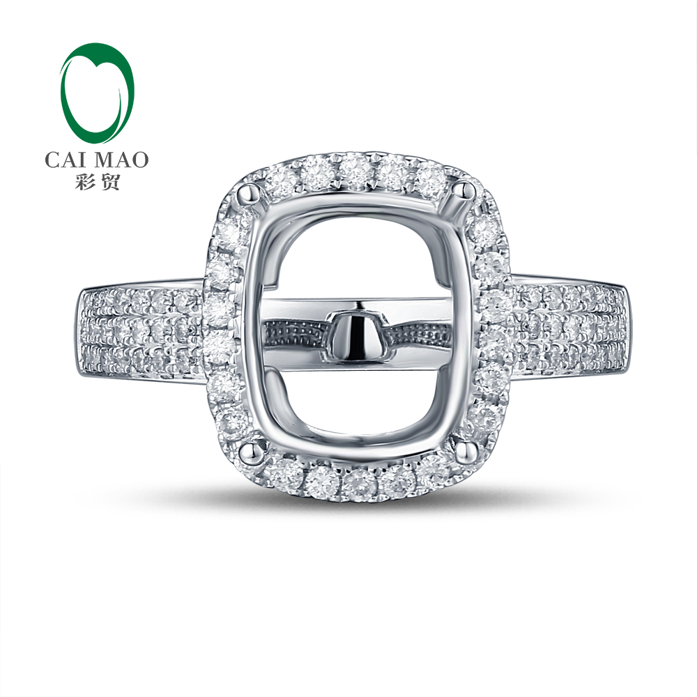 4871a17fde4 ▻ Big promotion for setting cushion cut solid gold natural diamonds ...