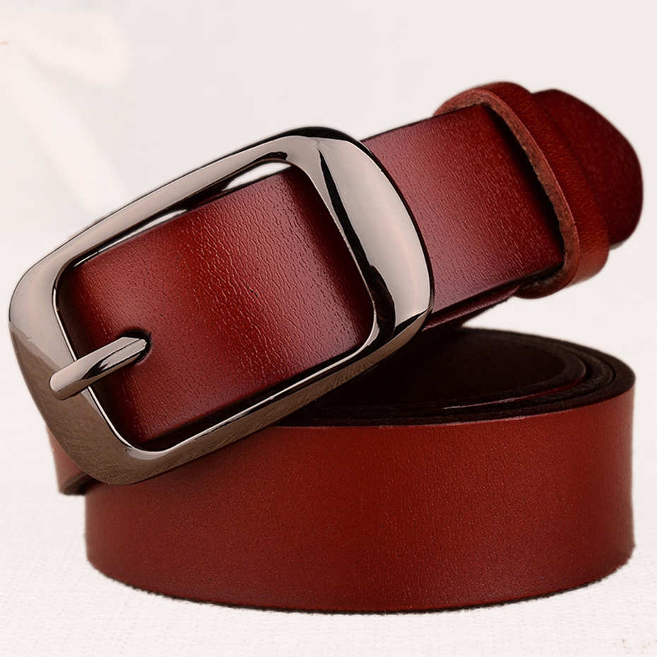 Women's Fashion Brand Strap Genuine Leather Women Belt Alloy Pin Buckles Vintage Belts For Womens Jeans High Quality 10