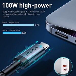 Baseus USB 3,1 Type C к USB C кабель для Huawei Samsung S9 S10 PD 100 Вт Быстрая зарядка 4,0 USB C кабель для MacBook Pro Type C кабель