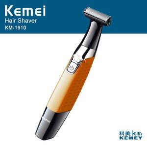 Image 2 - Kemei mens electric shaver body face electric razor for men stubble trimmer beard shaving edge trimer head trimmer back