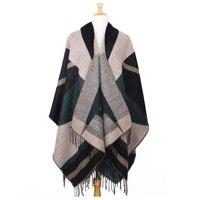 scarf shawl wrap cape stole winter ponchos cappa tippets de inverno mulher shawls oversized pashmina poncho feminino coat