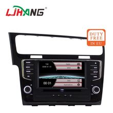 Ljhang 1 Din Car Multimedia Player For VW/Volkswagen/Golf 7 GPS Navi Bluetooth Mobil Radio Stereo Kepala Unit USB Cermin-Link RDS FM